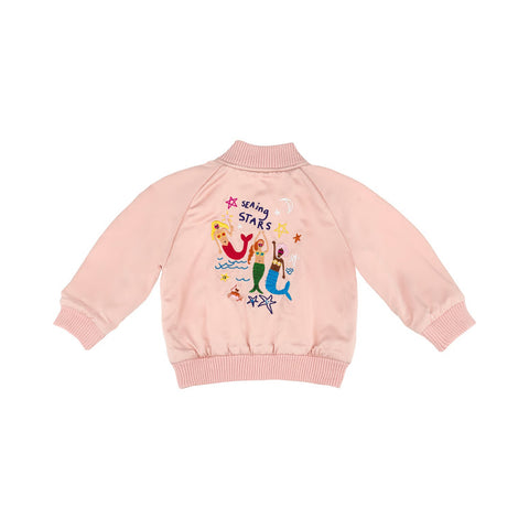 Reversible Pink Mermaid Bomber Jacket