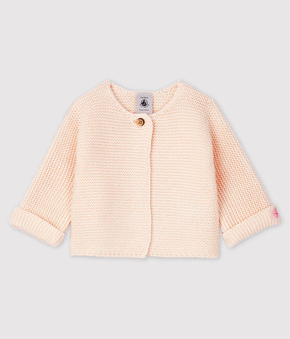 Pink Knit Organic Cotton Cardigan