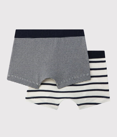 Navy Striped Boxer Shorts - Set Of 2