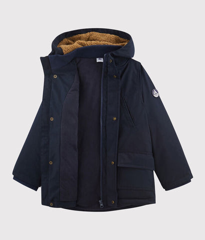 Navy Parka with Fleece Lining