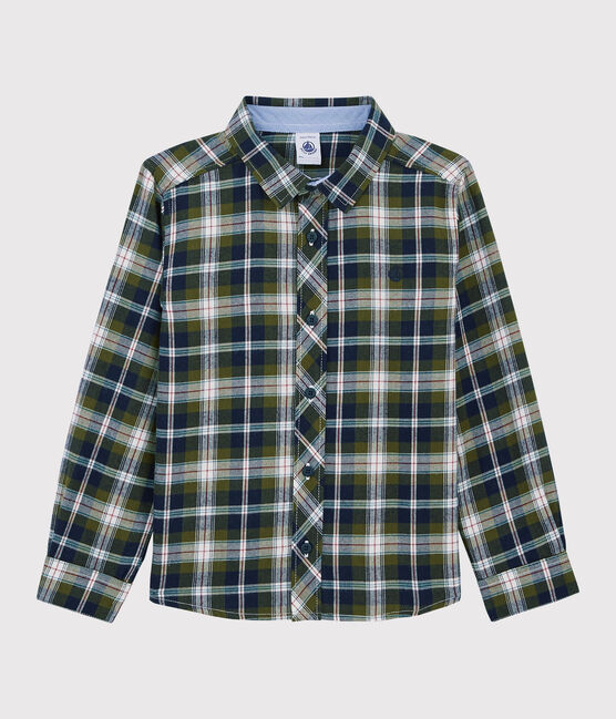 Green & Blue Plaid Button-up