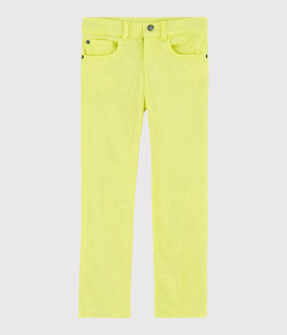 Neon Yellow Slim Fit Trousers