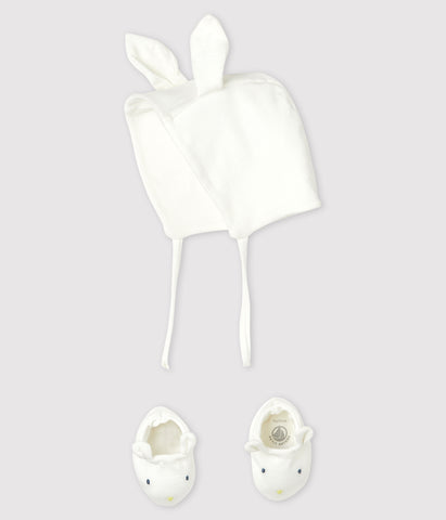 Bunny Bonnet and Bootie Set