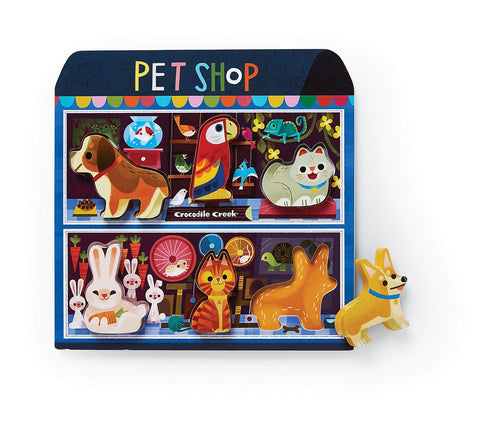 Pet Shop Wood Puzzle & Playset (6pcs)