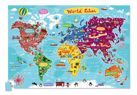 World Cities Puzzle & Poster (200pcs)