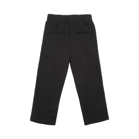 Black Sweatpants with Logo Trim
