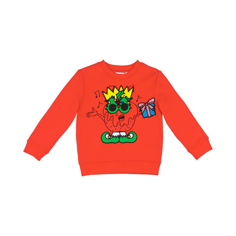 Red Christmas Sweater With Detachable Velcro Characters