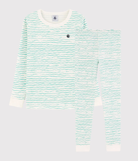 Green Wavy 2-piece Pyjama Set