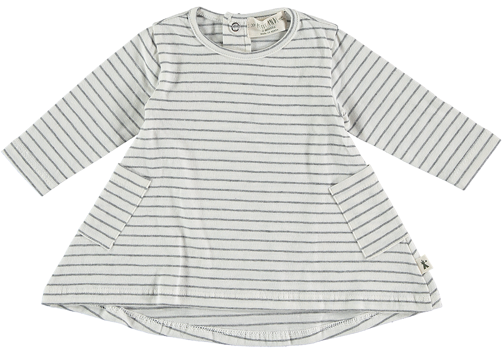 White Striped Long Sleeve Tunic