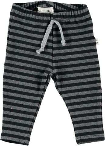 Black and Grey Striped Legging