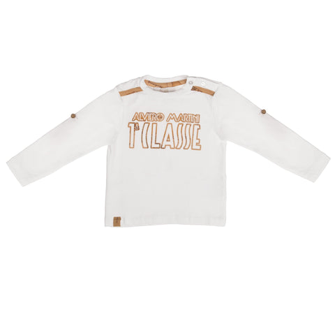"White long sleeve with beige ""1A CLASSE"""