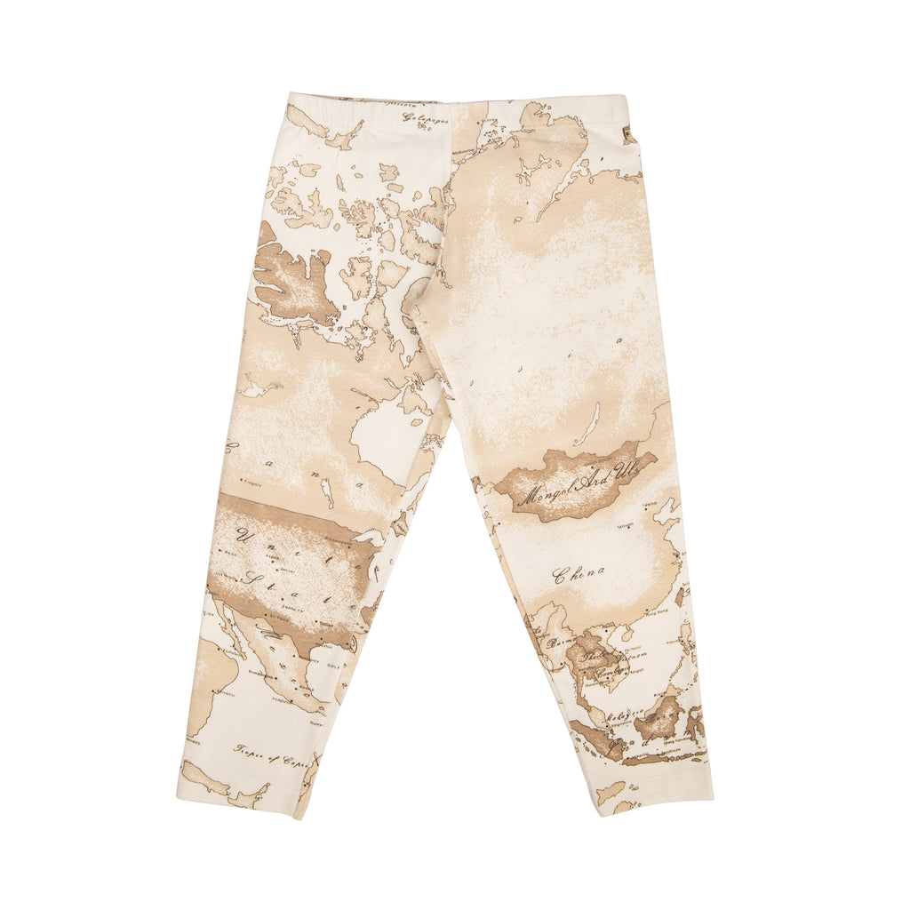 Light beige geo print leggings