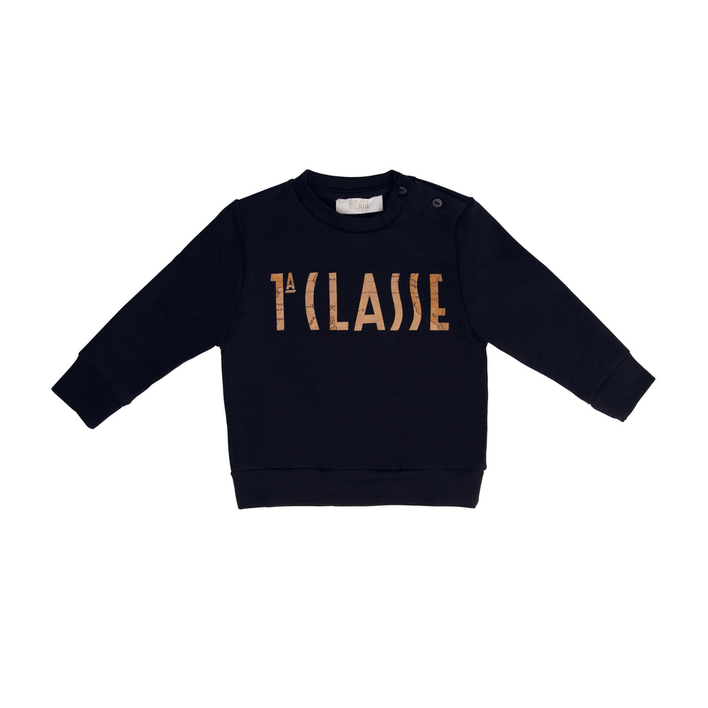 "Navy ""1A CLASSE"" crew neck sweater"