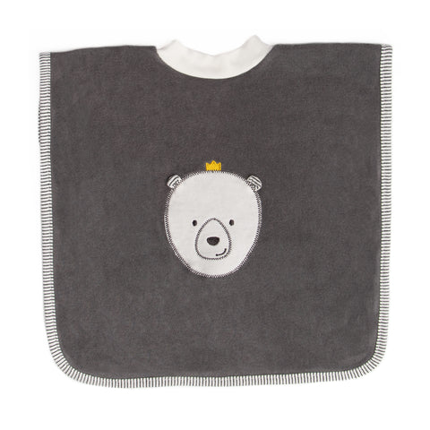 Grey bear bib