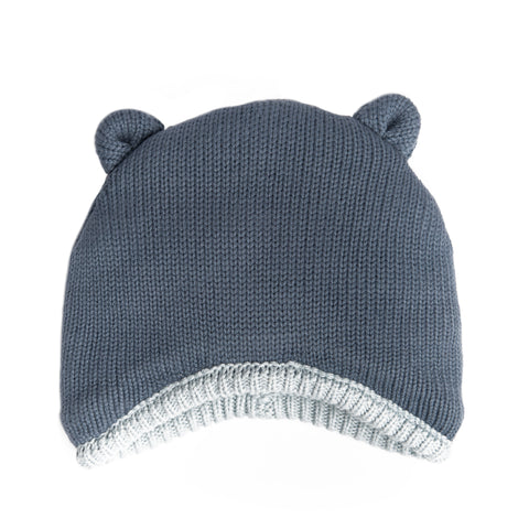 Blue knit hat