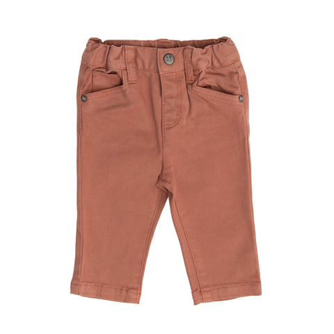 Caramel cotton skinny trousers