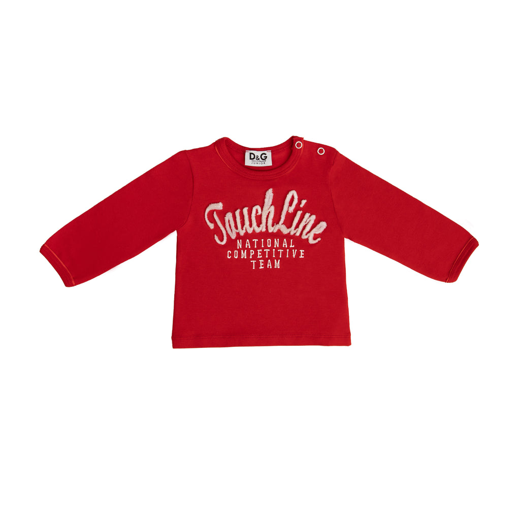 "Red long sleeve ""Touch Line"" shirt"