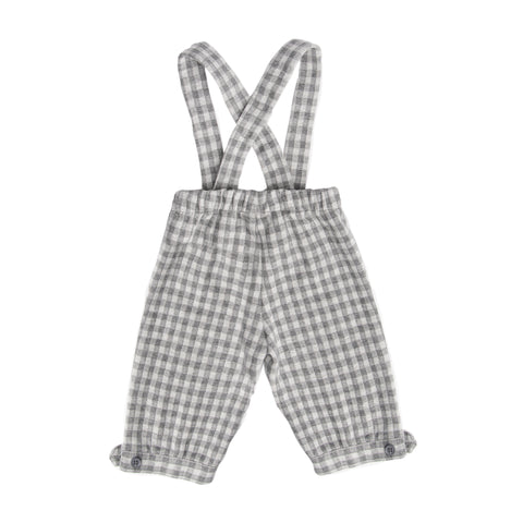 Grey check overall trousers