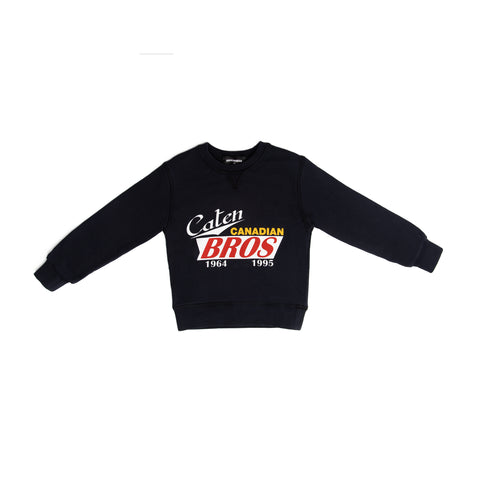 "Navy ""Caten BROS"" crew neck sweater"