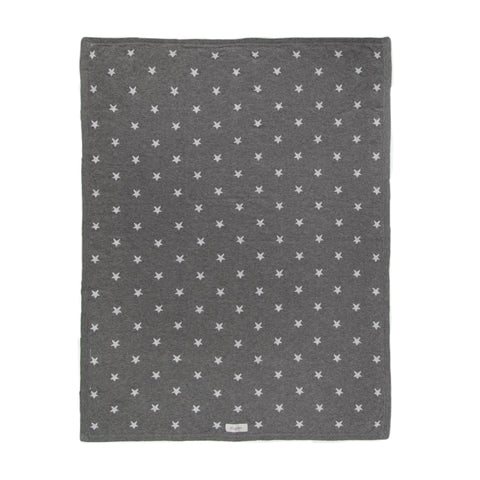 Grey blanket with stars