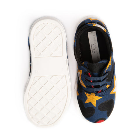 Blue rooster star print shoes