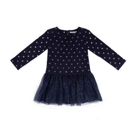 Navy tulle dress