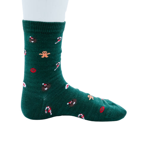 Green Holiday Socks