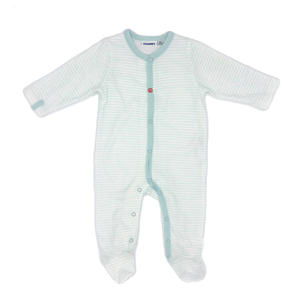 Soft Green Organic Cotton Striped Pyjama