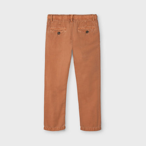 Clay Linen Blend Twill Trousers
