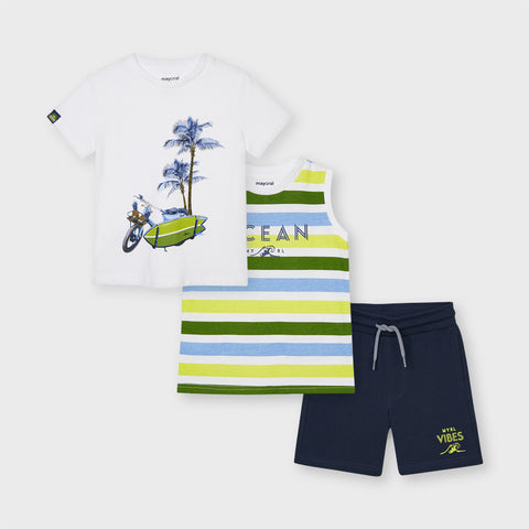 Green and White Beach 3-piece Set