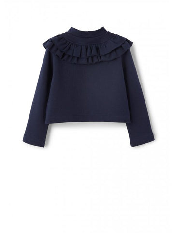 Navy ruffle jacket