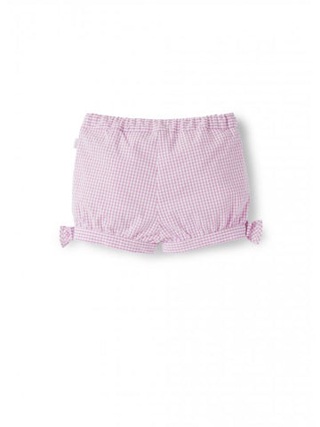 Pink gingham bubble shorts