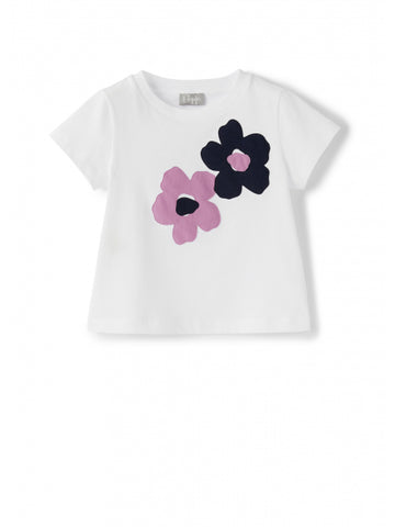 White t-shirt with flowers