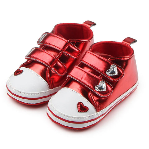 Baby's Option Bright Heart Sneakers - Red
