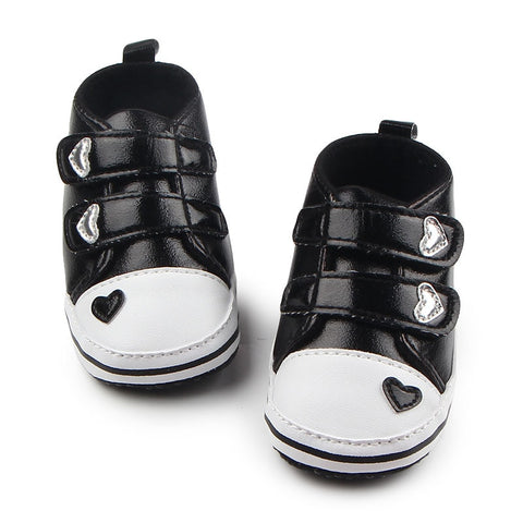 Baby's Option Bright Heart Sneakers - Black