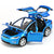 Blue Tesla model X toy car