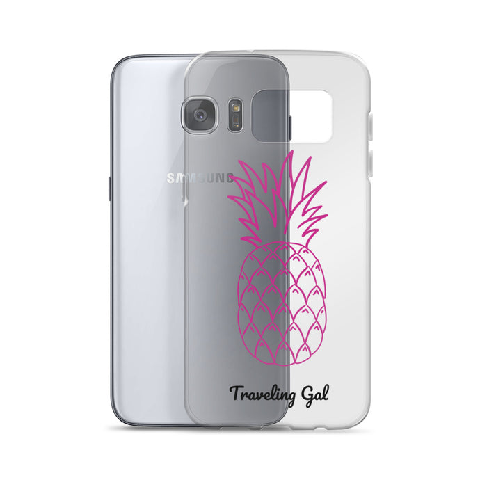 Traveling Gal Pink Pineapple Samsung Case