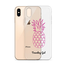 Load image into Gallery viewer, Traveling Gal Pink Pineapple iPhone Case