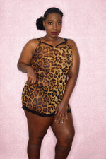 Cheetah Mesh Dress