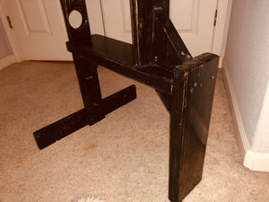 Distressed CBT Chair with Wrist & Ankle Tie Downs and adjustable gate.