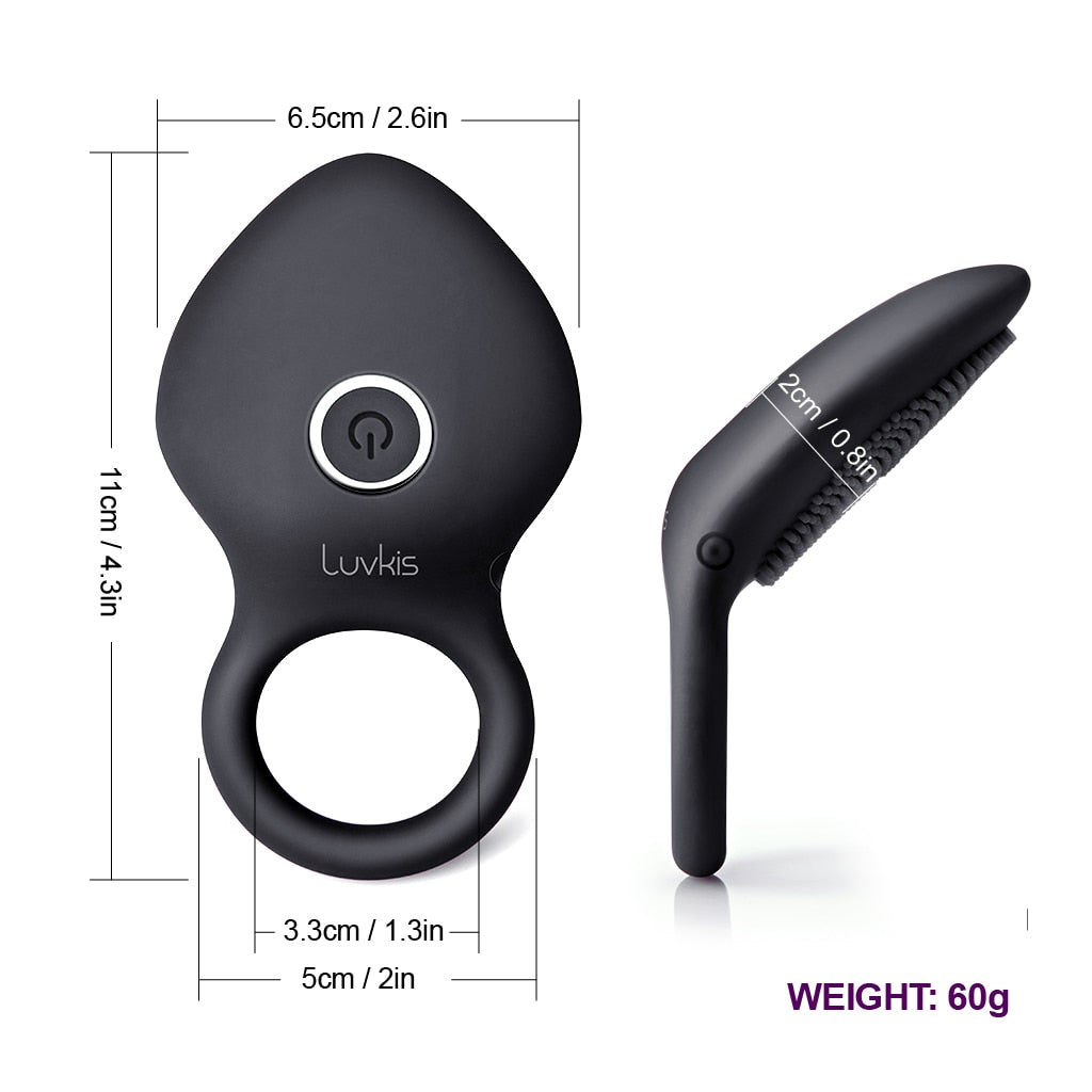 Luvkis 10 Speeds Penis Vibrator Rings