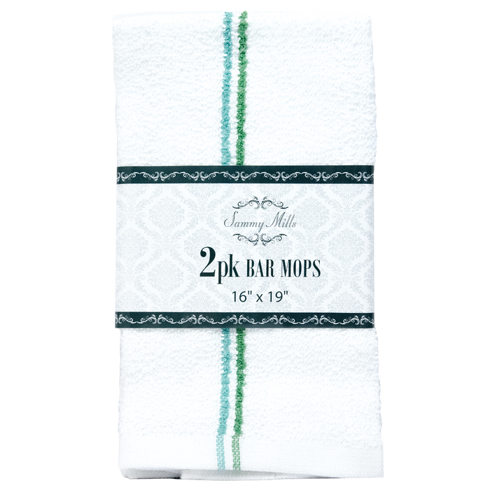 "Sammy Mills Bar Mops 16"" x 19"" - Pack of 2"