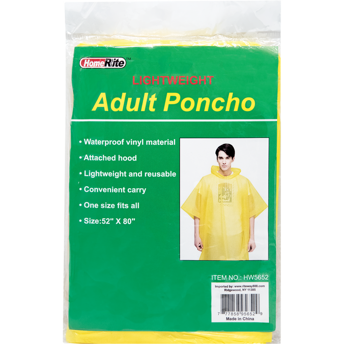 HomeRite Adult Poncho