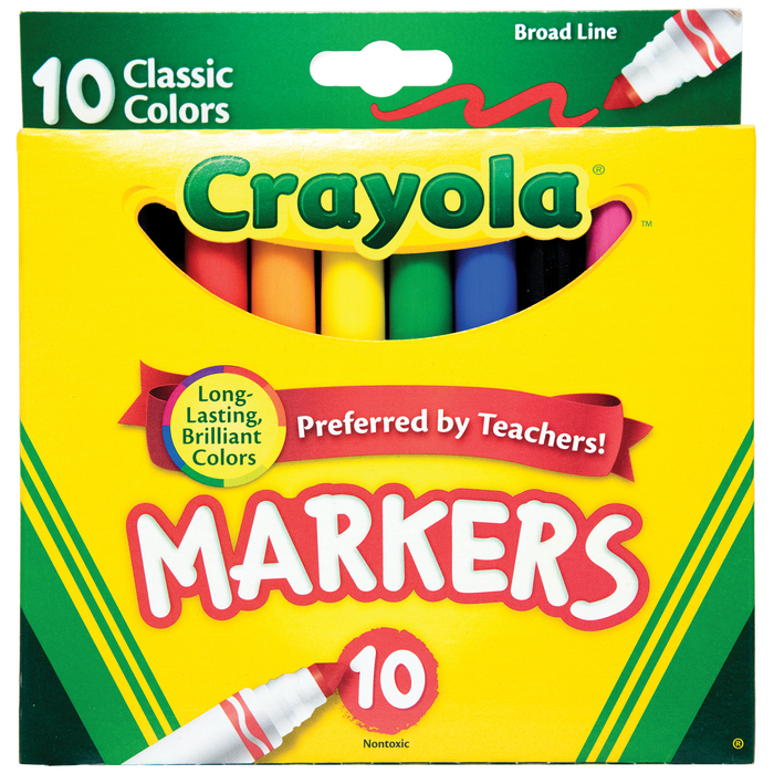 Crayola Markers - Broad Line - Pack of 10