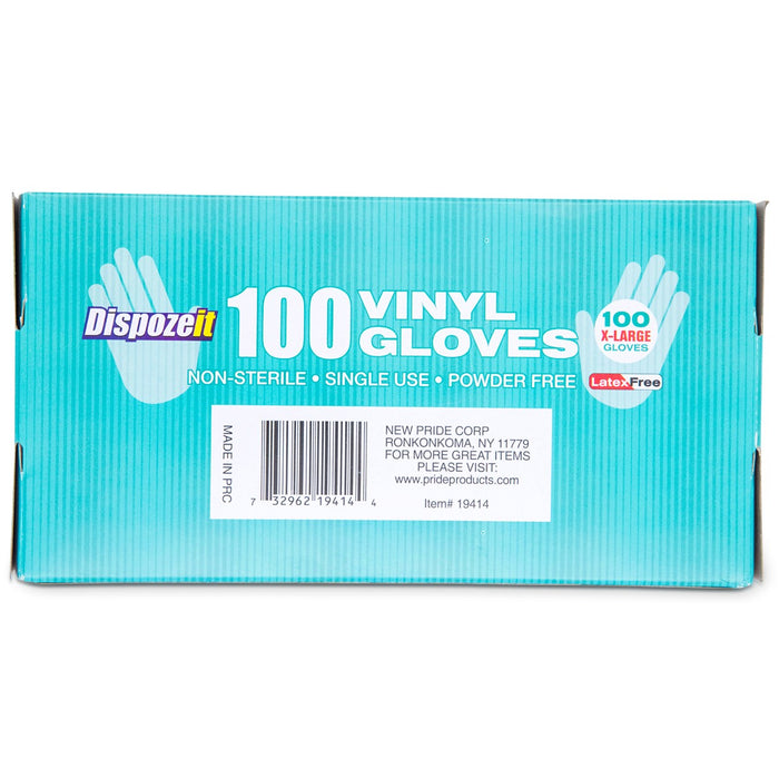 Dispozeit Vinyl Powder-Free Gloves - White - 100ct