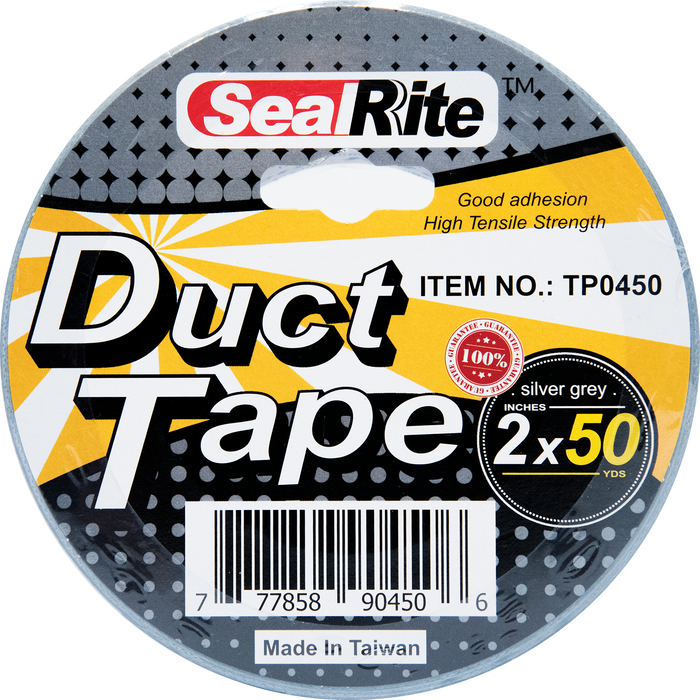 "SealRite Duct Tape 2"" x 50 Yards - Silver Grey"