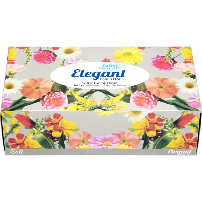 Elegant Essentials White 2-Ply Facial Tissues - 144ct