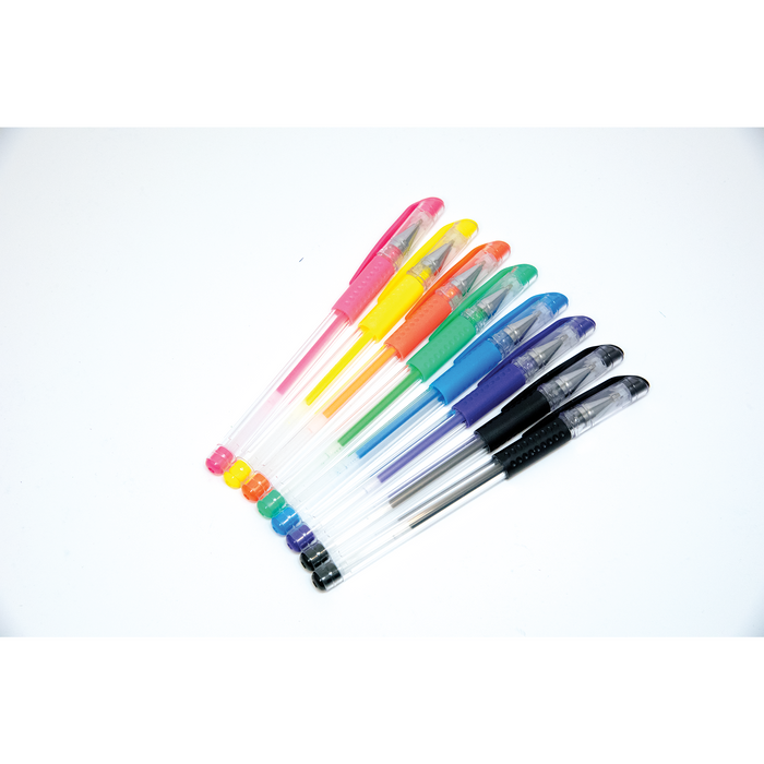 PaperRite Assorted Color Gel Pens - Pack of 8