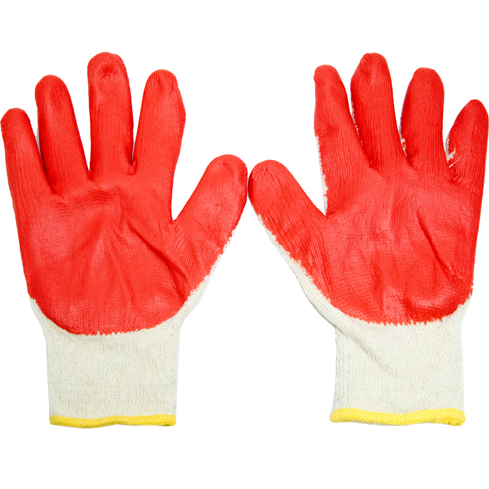 ToolRite Red Latex Coated Working Gloves - 12 Pairs