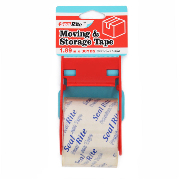 "SealRite Moving and Storage Tape with Dispenser 1.89"" x 30 Yards - Clear"